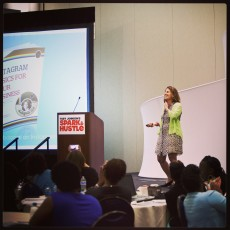 Speaking abt Instagram for Your Business in Boston Spark & Hustle
